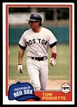 1981 Topps #153  Tom Poquette  Front Thumbnail