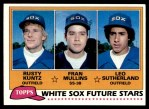 1981 Topps #112   -  Leo Sutherland  /  Fran Mullins  /  Rusty Kuntz White Sox Front Thumbnail