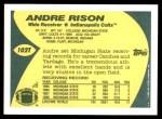 1989 Topps Traded #102 T Andre Rison  Back Thumbnail
