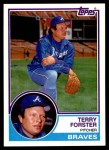 1983 Topps Traded #33 T Terry Forster  Front Thumbnail