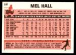 1983 Topps Traded #39 T Mel Hall  Back Thumbnail