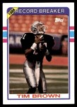 1989 Topps #2   -  Tim Brown Record Breaker Front Thumbnail