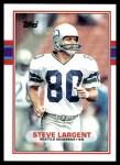 1989 Topps #183  Steve Largent  Front Thumbnail