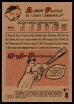 2007 Topps Heritage New Age Performers #10 NAP Albert Pujols  Back Thumbnail