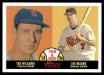 2007 Topps Heritage Then & Now #3 TN Ted Williams / Joe Mauer  Front Thumbnail