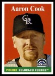 2007 Topps Heritage #257  Aaron Cook  Front Thumbnail