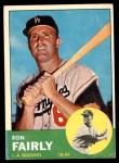 1963 Topps #105 BLU Ron Fairly  Front Thumbnail