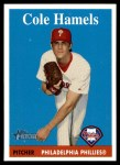 2007 Topps Heritage #76 A Cole Hamels  Front Thumbnail