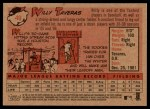 2007 Topps Heritage #49  Willy Taveras  Back Thumbnail