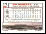 1992 Topps Traded #92 T Bip Roberts  Back Thumbnail