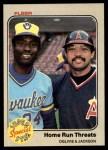 1983 Fleer #640  Ben Oglivie / Reggie Jackson  Front Thumbnail