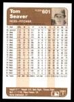 1983 Fleer #601  Tom Seaver  Back Thumbnail