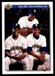 1992 Upper Deck #85  Ken Griffey Jr. / Griffey Family  Front Thumbnail