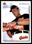 1992 Upper Deck #165  Cal Ripken Jr.  Front Thumbnail