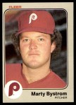 1983 Fleer #154  Marty Bystrom  Front Thumbnail