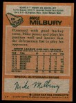 1978 Topps #59  Mike Milbury  Back Thumbnail