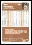 1983 Fleer #461  Bert Roberge  Back Thumbnail