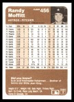 1983 Fleer #456  Randy Moffitt  Back Thumbnail