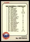 1983 Fleer #656   Astros / Mariners Team Checklist Front Thumbnail
