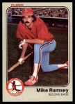 1983 Fleer #19  Mike Ramsey  Front Thumbnail