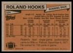 1981 Topps #404  Roland Hooks  Back Thumbnail