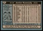 1980 Topps #377  Junior Kennedy  Back Thumbnail