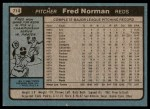1980 Topps #714  Fred Norman  Back Thumbnail