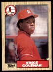 1987 Topps #590  Vince Coleman  Front Thumbnail