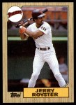1987 Topps #403  Jerry Royster  Front Thumbnail