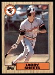 1987 Topps #552  Larry Sheets  Front Thumbnail