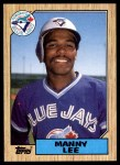 1987 Topps #574  Manny Lee  Front Thumbnail