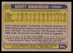 1987 Topps #508  Scott Bankhead  Back Thumbnail