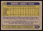 1987 Topps #494  Barry Jones  Back Thumbnail