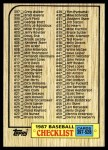 1987 Topps #522   Checklist 397 - 528 Front Thumbnail