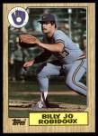 1987 Topps #401  Billy Joe Robidoux  Front Thumbnail