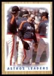 1987 Topps #531   -  Yogi Berra Astros Leaders Front Thumbnail