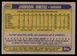 1987 Topps #583  Junior Ortiz  Back Thumbnail