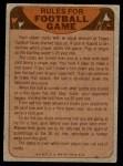 1974 Topps  Checklist   Miami Dolphins Team Back Thumbnail