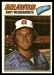 1977 Topps Cloth Stickers #28  Andy Messersmith  Front Thumbnail