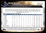 2016 Topps Update #165  Drew Butera  Back Thumbnail