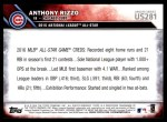 2016 Topps Update #281   -  Anthony Rizzo All-Star Back Thumbnail