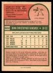 1975 O-Pee-Chee #602  John Vukovich  Back Thumbnail