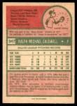 1975 O-Pee-Chee #347  Mike Caldwell  Back Thumbnail
