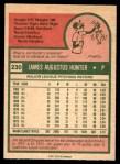1975 O-Pee-Chee #230  Catfish Hunter  Back Thumbnail