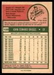 1975 O-Pee-Chee #123  Johnny Briggs  Back Thumbnail