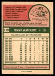 1975 O-Pee-Chee #119  Tommy Helms  Back Thumbnail