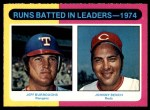 1975 O-Pee-Chee #308   -  Johnny Bench / Jeff Burroughs RBI Leaders Front Thumbnail