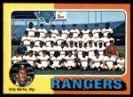 1975 O-Pee-Chee #511   -  Billy Martin Rangers Team Checklist Front Thumbnail