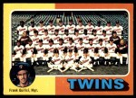 1975 O-Pee-Chee #443   -  Frank Quilici Twins Team Checklist Front Thumbnail