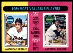 1975 O-Pee-Chee #207   -  Harmon Killebrew / Willie McCovey 1969 MVPs Front Thumbnail